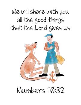 Katy No-Pocket (Numbers 10:32) Bible Verse Printable