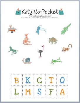 Katy No-Pocket Phonics Match