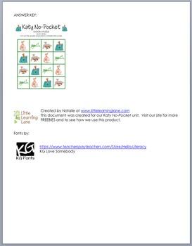 Katy No-Pocket Sudoku Puzzle (Easy Level)