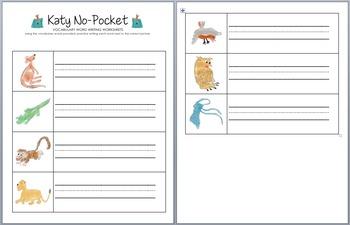 Katy No-Pocket Vocabulary Words & Writing Worksheets