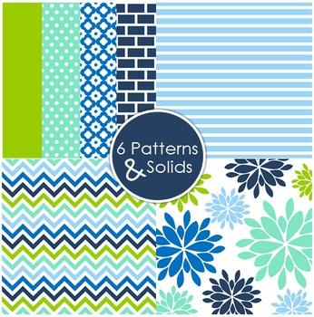 12x12 Digital Paper Set: Katy {A Hughes Design}