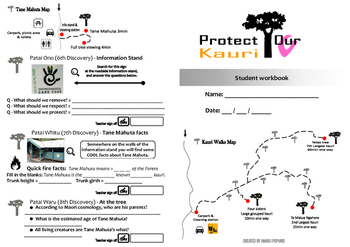 Kauri Walks and Tane Mahuta student workbook