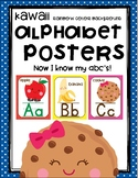 Kawaii ABC Word Wall Cards Rainbow Version