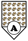 Kawaii Animals, Tiger Letters & Numbers Pennant Banner, Low Ink Classroom Décor