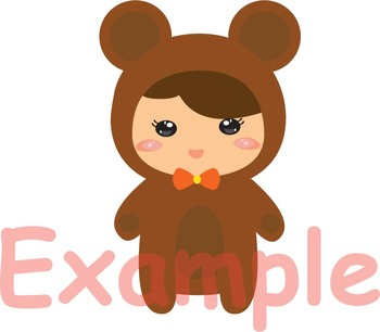 Kawaii Animals woodland zoo jungle kid forest circus clipart svg props Toys 101s