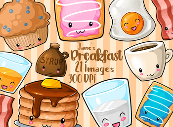 Kawaii Breakfast Clipart