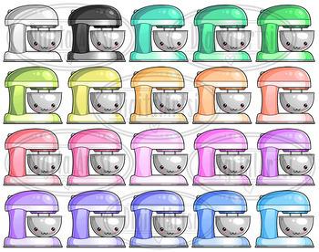 Kawaii Cake Mixer Clipart