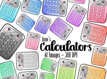 Kawaii Calculators Clipart