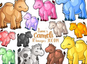 Kawaii Camel Clipart