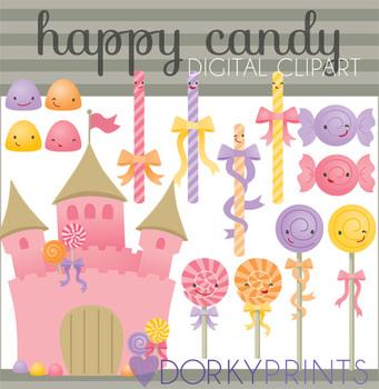 Kawaii Candy Digital Clip Art