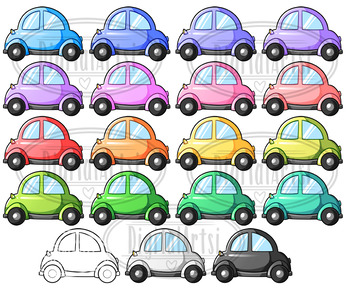 Kawaii Cars Clipart