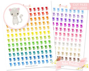 Kawaii Cat Printable Planner Stickers