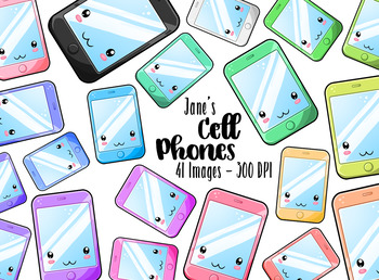 Kawaii Cell Phone Clipart