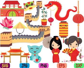 kawaii chinese japanese asian china clipart svg zodiac food props rh teacherspayteachers com china clipart black and white china clip art for social studies board