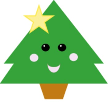 Kawaii Christmas Tree Clipart for the Holidays