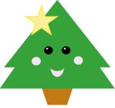 Kawaii Christmas Tree Clipart for the Holidays