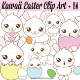 Kawaii Clipart Set, Easter Clipart, Kawaii Clipart, Easter