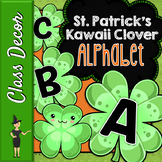 Kawaii Clover St. Patrick's Day Bulletin Board Letters or Banner