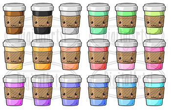 Kawaii Coffee Clipart