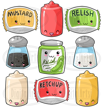 Kawaii Condiments Clipart