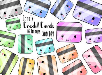 Kawaii Credit Cards Clipart