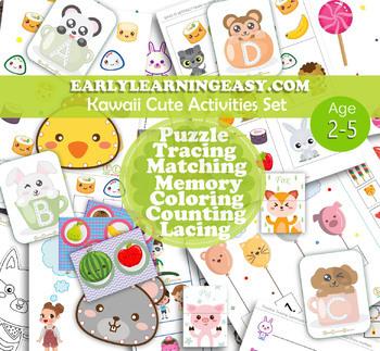 Kawaii Cute Toddler, Pre-K and Pre-school activities.