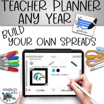 Kawaii Digital Teacher Planbook for Goodnotes on the iPad