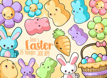 Kawaii Easter Clipart