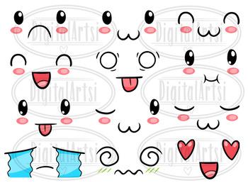 Kawaii Emoticons Clipart