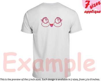 Kawaii Faces Applique Designs for Embroidery Japan cartoon cute Emoji love 8a
