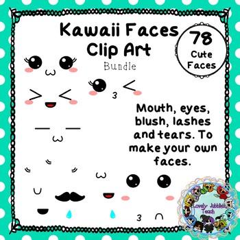 Kawaii Faces Bundle Clip Art