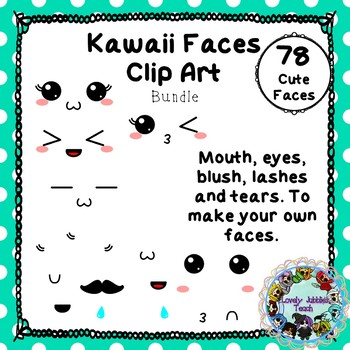Kawaii Faces Bundle Clip Art