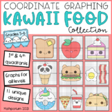 Kawaii Food Mystery Pictures: Coordinate Graphing