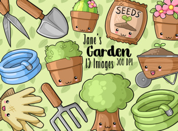 Kawaii Gardening Clipart