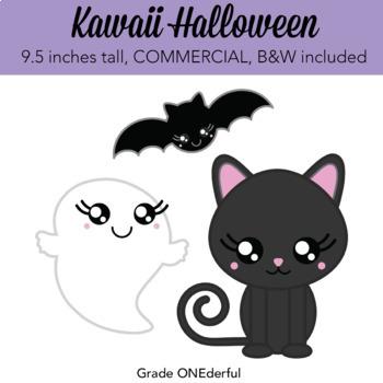 Kawaii Halloween Clipart, Cute Clipart for Halloween