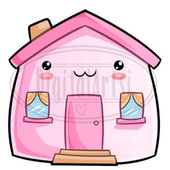 Kawaii Houses Clipart