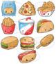 Kawaii Junk Food Clipart