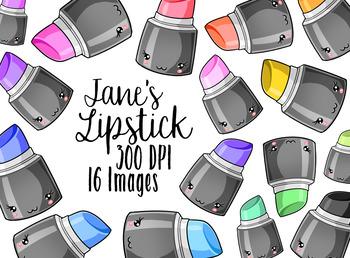 Kawaii Lipstick Clipart