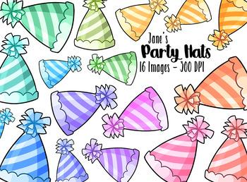 Kawaii Party Hats Clipart