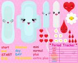 Kawaii Period Planner- Digital Clip Art Graphics(159)