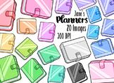 Kawaii Planners Clipart