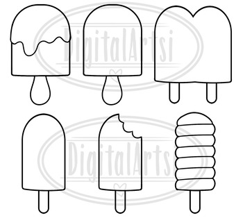Kawaii Popsicles Clipart