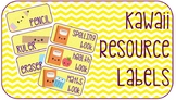 Kawaii Resource Labels