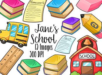 Kawaii School Clipart