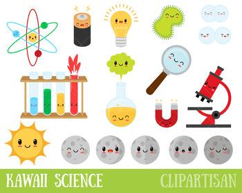 Cute Science Clipart, Kawaii Science Clip Art