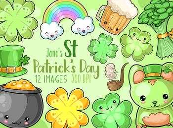 Kawaii St. Patrick's Day Clipart