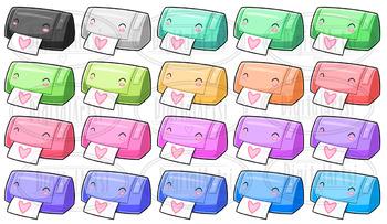 Kawaii Sticker Machines Clipart