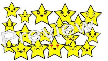 Kawaii Style Star Clipart