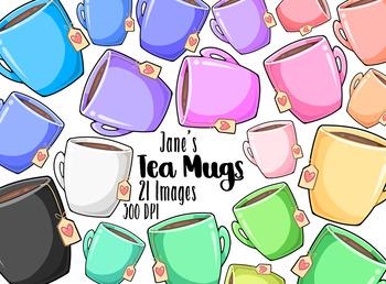 Kawaii Tea Mugs Clipart