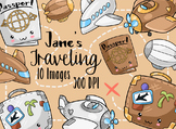 Kawaii Travel Clipart